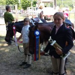 Alexis won Walk-Trot champion and Vicki got Reserve